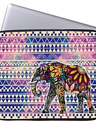 """Elonbo Tribal Stripe and Exotic Elephant 15"""" Laptop Waterproof Sleeve Case for Macbook Pro Retina Dell HP Acer"""
