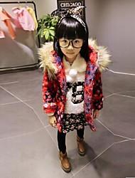 la mode snowflak douce de fille avec manteau chaud épaisse capuche