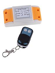 AC220V 1ch 1 receptor e 2 botão rf controle remoto sem fio transceptor