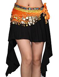 Belly Dance Dancewear Women's Modal&Velvet Tassels Elegant Pretty Outfits Including 2 Top, Skirt, Belt(More Colors)