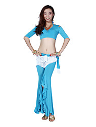 Belly Dance Dancewear Women's Silk Gorgeous Outfits Including Top, Bottom, Belt(More Colors)