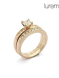 Lureme®Zircon Alloy Finger Ring for Women Lady