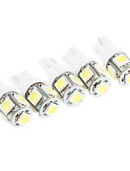 t10 2,5 W 5 * smd 5050 180-200lm 6000k Licht LED-Lampe für Auto-Leselicht (DC 12V)