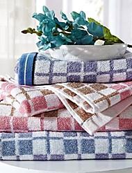 SenSleep® 3pcs Hand Towel Pack, Light Pink or Light Blue Plaid 100% Cotton Hand Towel