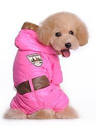 Dog Coat Dog Clothes Cosplay Letter & Number Blue Blushing Pink