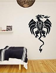 decalques de parede adesivos de parede, citações dragão de decoração de parede mural pvc etiquetas