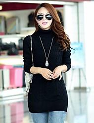korean torsion roulé des femmes creux robe pull de laine