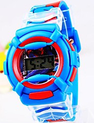 Children's Round Dial Spider-Man Silicone Band Electronics Watch  (Assorted Colors) Cool Watches Unique Watches