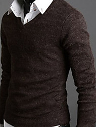 Super Hot Men's Casual V-Neck Long Sleeve Sweaters