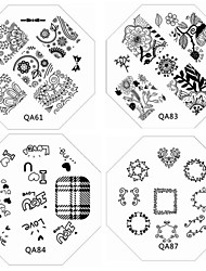 1PC New Nail Stamping Image Plates Chic Lace Flower Love Plate for DIY Nail Art Decorations(Assorted Pattern)