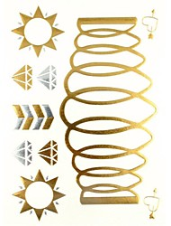 1PC Gold Glitter Tattoos Golden Temporary Tattoos Tattoo Stickers Gold Bracelet for Body Art(27*14.5*0.1)