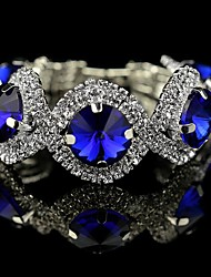Luxury High Quality Round Big Crystal Bracelet(Blue&Green)