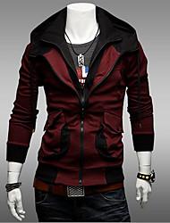 Hengyi мужской досуг пользовательских подходят балахон контрастного цвета блузка