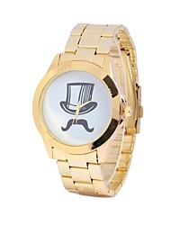 Unisex Beard Table Circular Steel Table China Movement Watch(Assorted Colors)