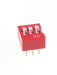 DIY 3-Position 6-Pin 2.54mm Pitch Dip Switches (10-Piece Pack)