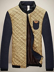 collar del soporte de chun zheng hombres todo a juego overcoat_l1032 color sólido