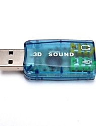 Airplane Style USB2.0 Channel Virtual 5.1 Effect Audio Sound Card Adapter