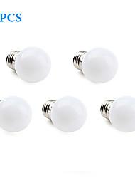 Lampadine LED a incandescenza 12 SMD 3528 E26/E27 1W 30 LM Bianco caldo / Luce fredda 5 pezzi AC 220-240 V