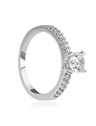 Brand 18K White Gold Plated CZ Rings Wedding and Party Rings