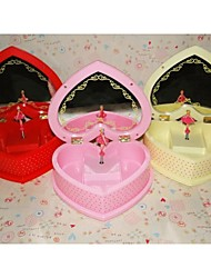 Heart Style Rotating Ballerina Make-Up Mirror Musical Boxes