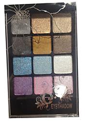 12 Paleta de Sombras de Ojos Seco Paleta de sombra de ojos Polvo Normal Maquillaje Smokey / Maquillaje de Diario / Maquillaje de Fiesta