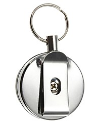 Retractable Metal Card Badge Holder Steel Recoil Ring Belt Clip Pull Key Chain