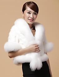 jiema manteau d'hiver au chaud partie souple faux de fourrure / occasionnel à long col rond 0926 femmes d '