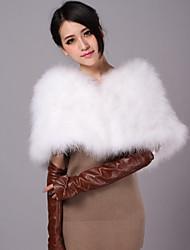 Moda avestruz piel de noche / Casual mantón