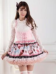 rosa heladería dulce princesa lolita vestido de la princesa encantadora cosplay