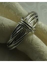 Metal Ring Napkin Ring, Iron , 1.77Inch, Set of 12