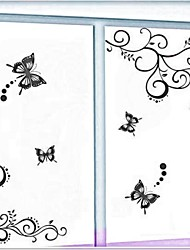Wall Stickers Wall Decals, Flower Vine and Butterflies PVC Wall Stickers
