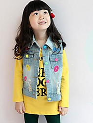 Girl's Denim Vest , Summer/Spring/Fall Sleeveless
