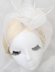 Women's/Flower Girl's Leather/Basketwork Headpiece - Wedding/Special Occasion Fascinators