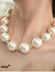 Necklace Strands Necklaces Jewelry Party / Daily / Casual Fashion Pearl / Alloy Silver 1set Gift