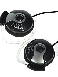 XTY-911 Black 3.5mm Audio Jack Stereo Earhook Headset with Mic for PC
