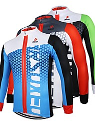 Arsuxeo Men's Cycling Jersey Breathable Long Sleeve Bicycle (Spring Summer Autumn)