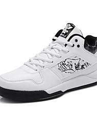Men's Basketball Shoes Leatherette Black/Blue/White