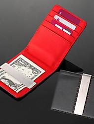 regalo regalo di nozze groomsman personalizzato incisione leatheroid rosso nero argento soldi portafoglio di clip
