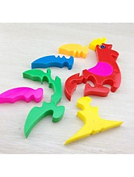 Quebra-cabeça 3D multi-color galo