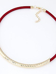European Style Fashion Metal Mesh Wax Rope Necklace(More Colors)