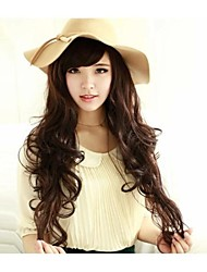 28inch Nature Wave Synthetic Machine Made Wig with Side Bang