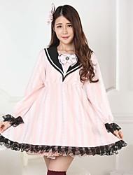 rosa doce lolita princesa arco escola marinheiro vestido de princesa linda cosplay