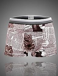 notícias de algodão cuecas boxers de moda masculina cueca mole (mais cores)