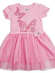 Vestidos de festa meninas do bebê borboleta vestido de princesa vestido bordado de manga curta vestidos infantis vestidos da menina
