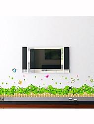 parede adesivos de parede decalques, estilo flor pura e fresca e grama pvc adesivos de parede