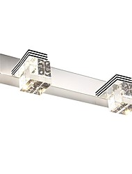 modernas luces del baño llevado del espejo de cristal 2 luces 220v