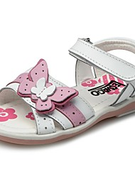 Girls' Shoes Outdoor / Casual / Athletic Calf Hair Sandals Summer Round Toe / Open Toe / Comfort / Slingback Flat HeelRivet / Flower /