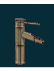 seul bassin Mélangeur laiton antique bambou robinet (f-5030001)