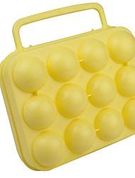 récipient extérieur pp jaune d'œuf pour une douzaine
