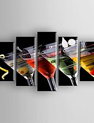 Hand-Painted Still Life Five Panels Canvas Oil Painting For Home Decoration